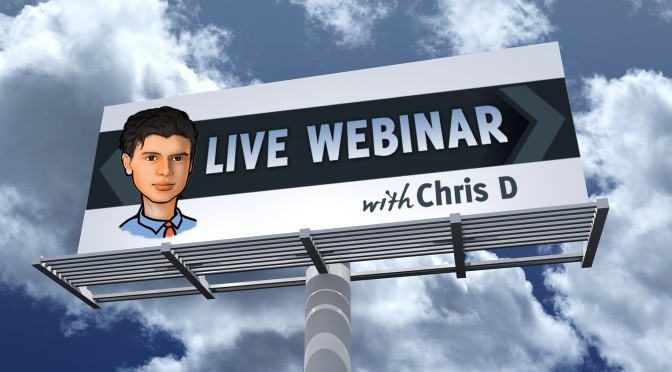 Two Free Trading Webinars With Chris D This Week – Register Here