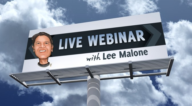Webinar : Keeping Costs Low During Times of High with LeeMalone – Tuesday  August 25, 2015 at  4:30 PM EST